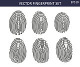 Biometric balck fingerprints  set
