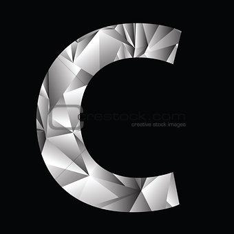 crystal letter  C