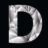 crystal letter  D