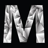 crystal letter  M