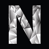 crystal letter  N