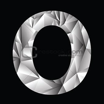 crystal letter  O