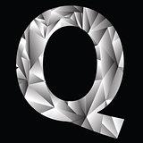 crystal letter  Q