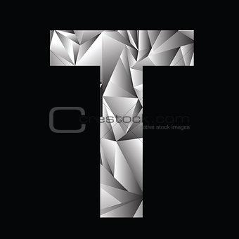 crystal letter  T