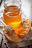 crackers and honey