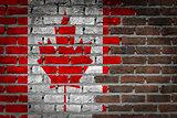 Dark brick wall - Canada