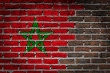 Dark brick wall - Morocco