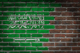 Dark brick wall - Saudi Arabia