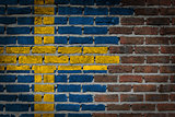 Dark brick wall - Sweden