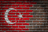 Dark brick wall - Turkey