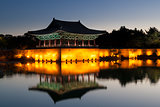 Old korean palace at dawn