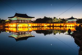 Anapji pond at dawn