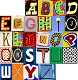 Carnival Alphabet Set JPG Letters Type Typography Characters Fon