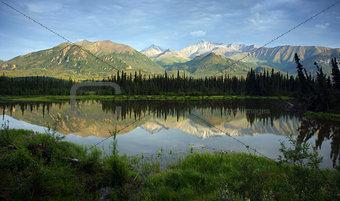 A tarn along the Alaska Mountains