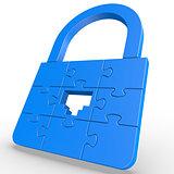 Puzzle LAN Lock
