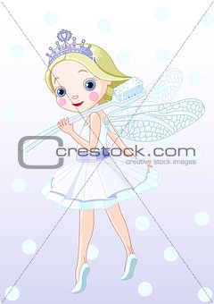 Tooth fairy with toothbrush