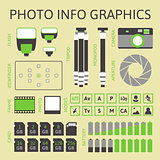 Photo infographics set, part one
