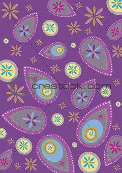 Paisley Flowers Pattern