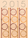 2015 ribbon arrow calendar