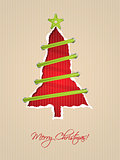 Ripped paper christmas card design