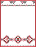 Embroidery abstract template frame for your design in folk style