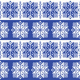 Traditional ornamental winter navy knitted pattern - Nordic style