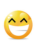 Yellow emoticon cartoon character