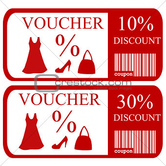 10% and 30% discount vouchers