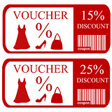 15% and 25% discount vouchers