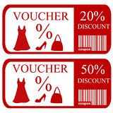 20% and 50% discount vouchers
