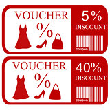 5% and 40% discount vouchers