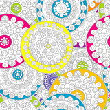 Doodle floral background