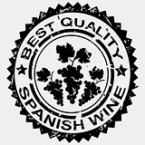 Grunge stamp, quality label for Spanish wine
