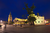 Krakow old town main market square