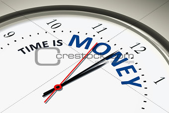 clock with time is money