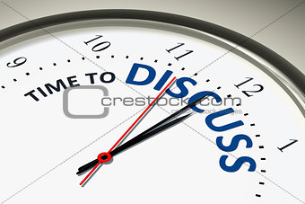 clock with time to discuss