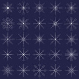 Ornate elegance snowflakes set for Christmas winter design