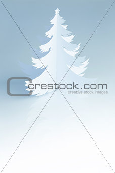Beautiful white handmade Christmas Tree - vertical