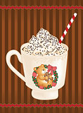 Christmas whipped cream hot coffee