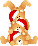 Stack of Christmas teddy Bears