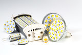 various led bulbs G4, MR16, R7s and individual chips