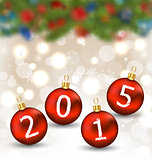 Happy new year in hanging glass ball