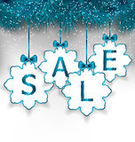 Christmas paper snowflakes with lettering sale