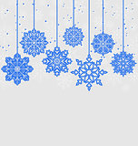 Christmas card with variation snowflakes