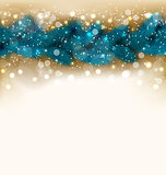 Christmas shimmering background with fir twigs, copy space for y