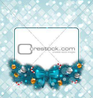 Celebration card with Christmas decoration