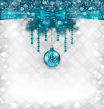 Shimmering background with Christmas traditional elements