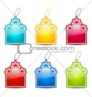 Christmas collection tags isolated on white background