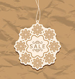 Christmas discount label, vintage style
