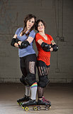 Confident Roller Derby Skaters